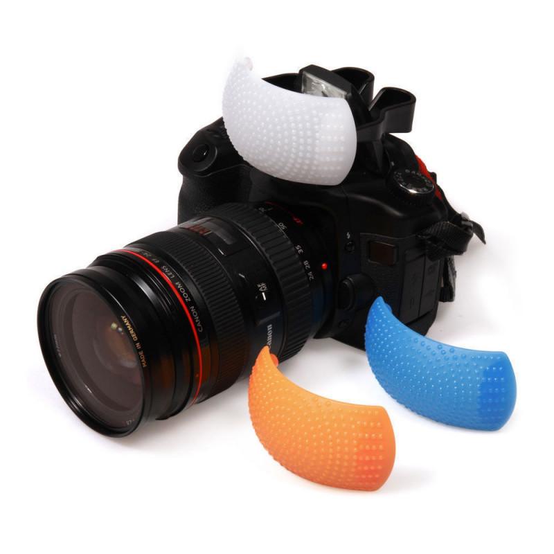 AccPro 3 Color Pop-Up Flash Diffuser  [LS-20]